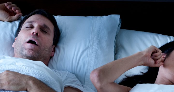 man sleeping with mouth open - sleep apnea