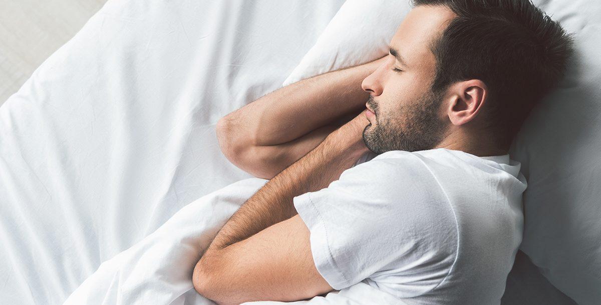 A man sleeping.
