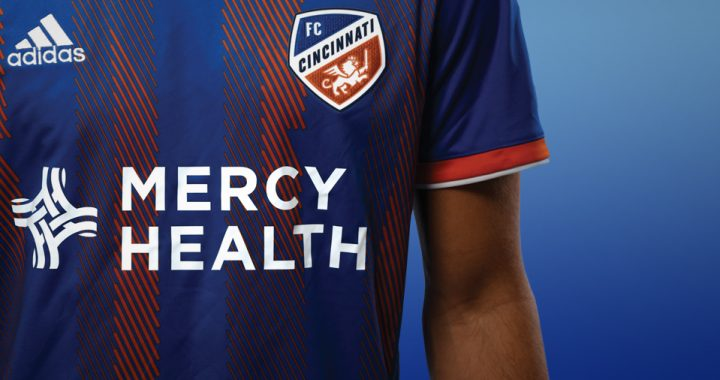 FC Cincinnati MLS jersey sponsored by Mercy Health
