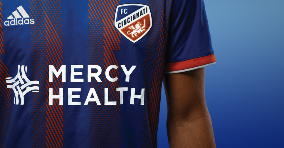 newest 2940f 4be2b FC Cincinnati Announces Mercy Health as Official Health Care ...