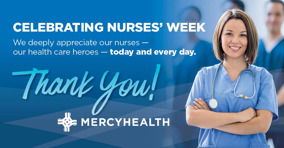 National Nurses' Week thank you graphic