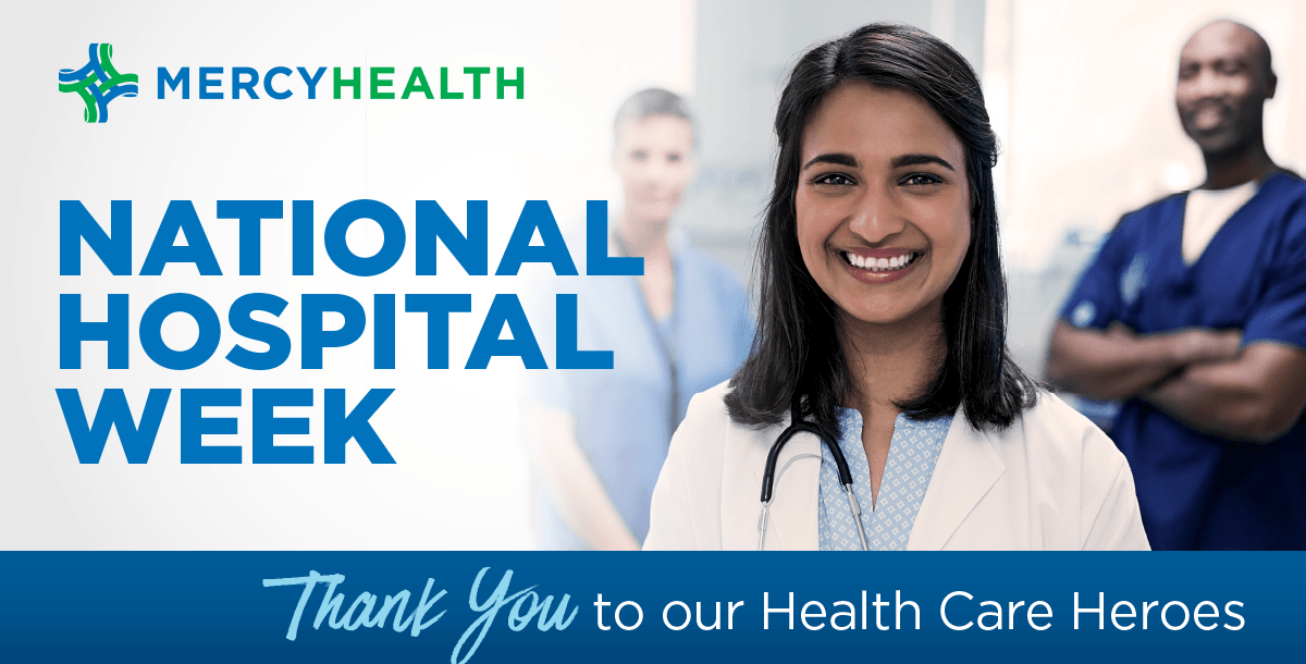 National Hospital Week Mercy Health thank you graphic