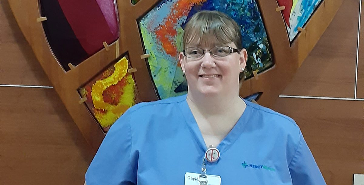 Gayle Hood, an environmental service staff member at Mercy Health – Springfield Regional Medical Center