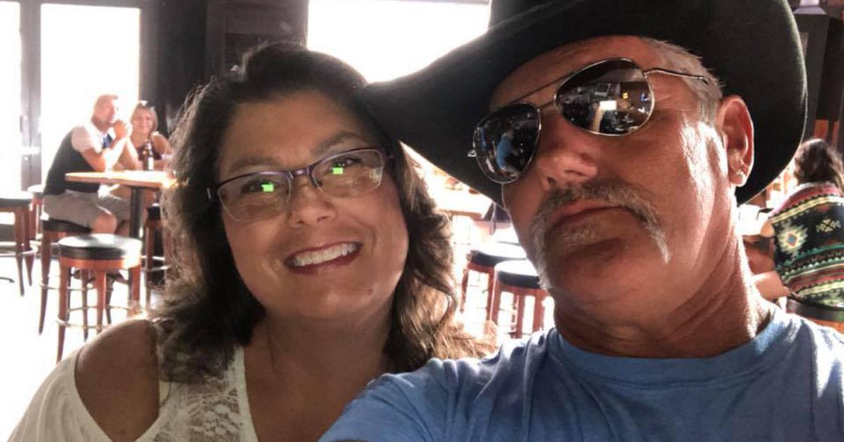 Linda and Jim Mooney before Jim has his stroke