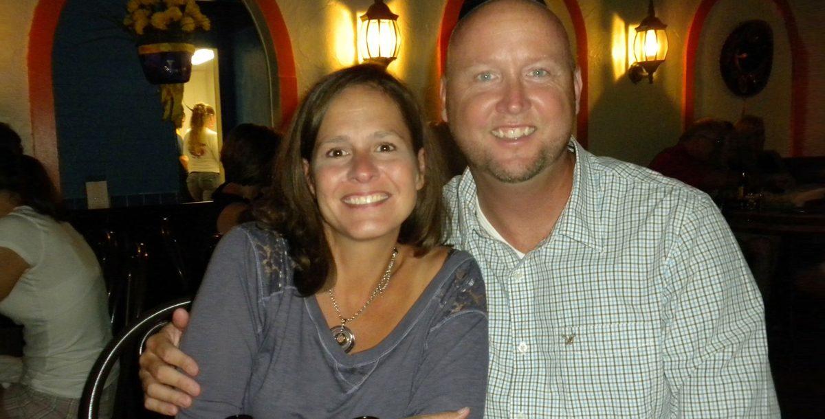 Lynn Caskey with her husband