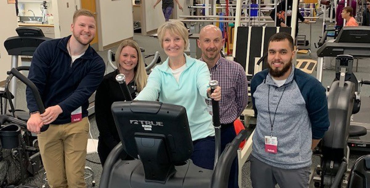 Linda Edwards with her care team at Mercy Health — Perrysburg Outpatient Rehabilitation and Therapy