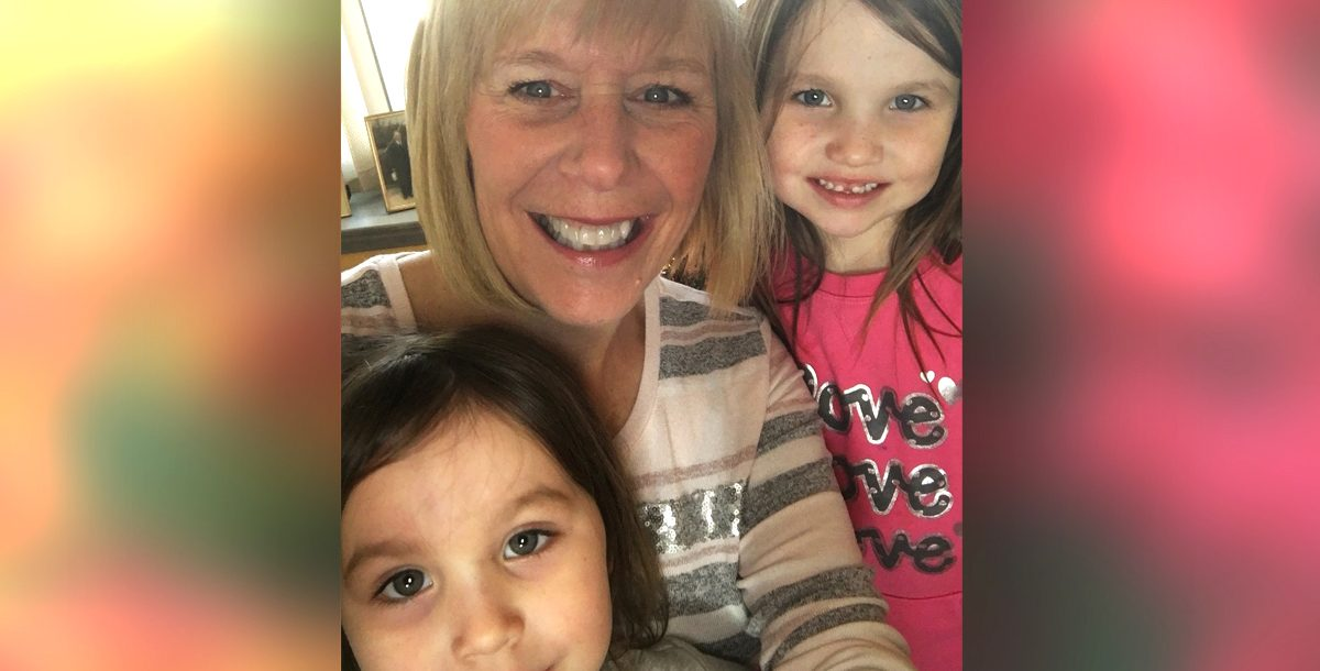 Jennifer Laureano with two of her grandkids