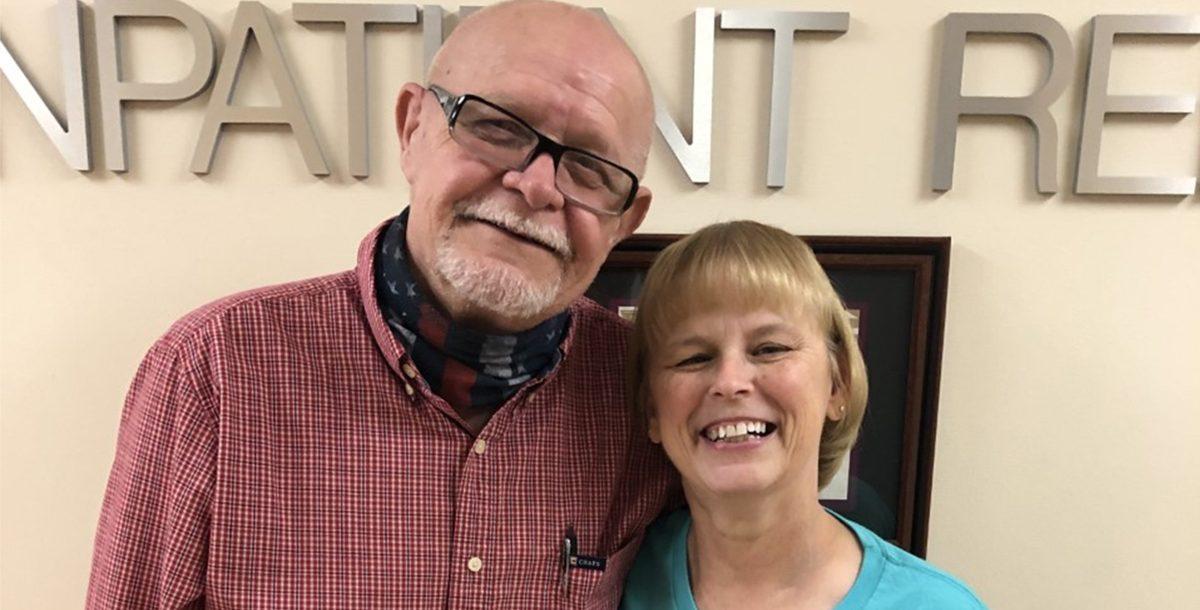 Roberta Pass with her husband, Jim.