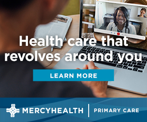ad for Mercy Health primary care