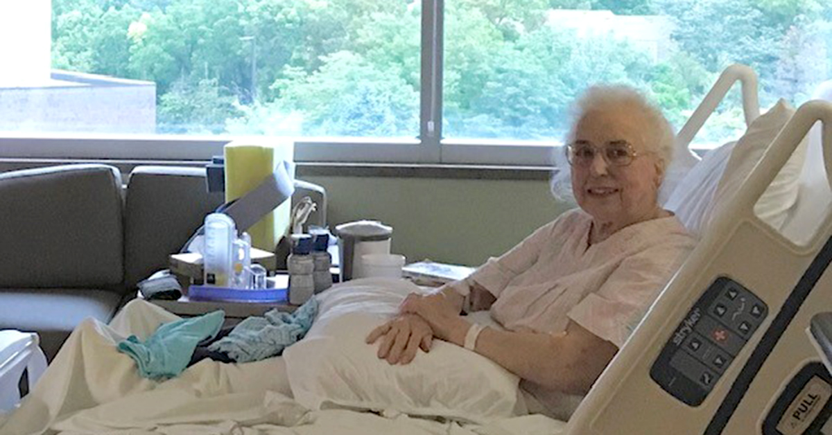 Geri McVety during her stay at Mercy Health - Fairfield Hospital.