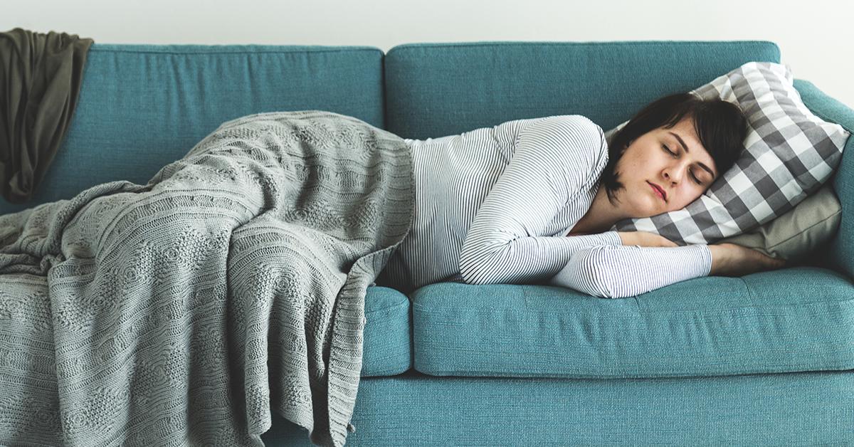 A woman enjoying a nap.