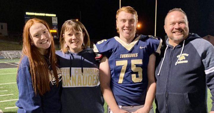 Garrett Chester with his family