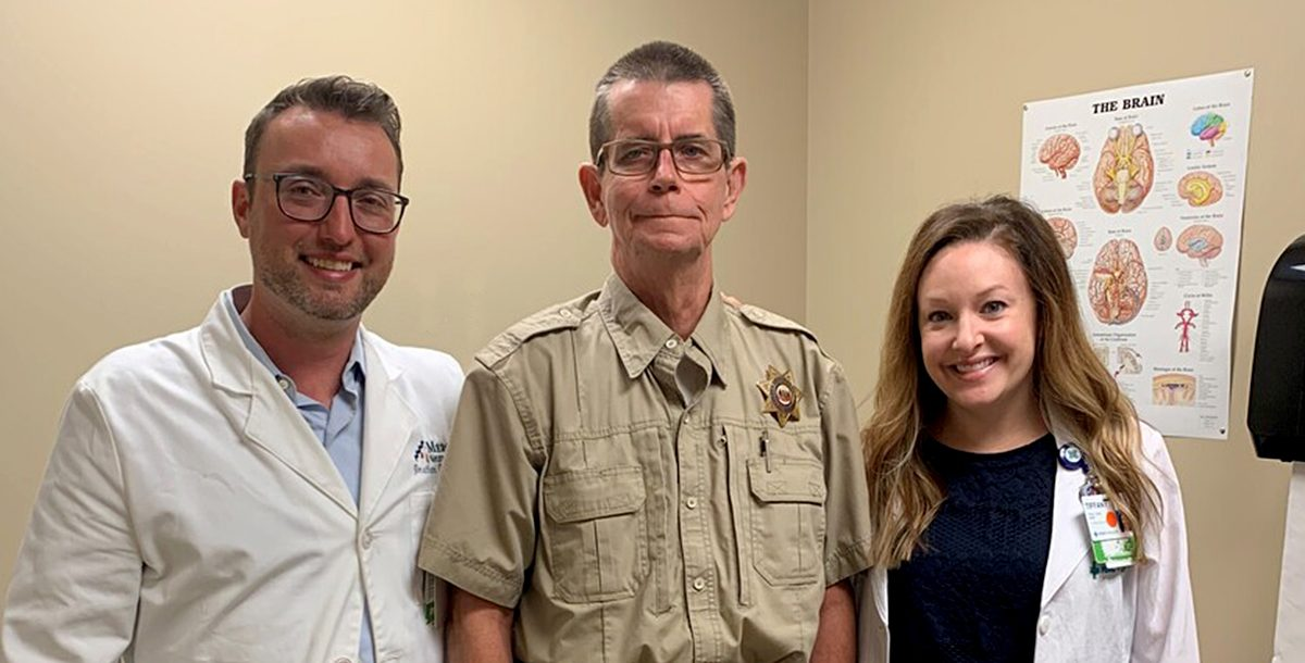 Darrell Carter with his Mercy Health neurology team