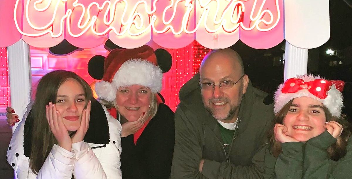 The Martel Family at their hot chocolate stand.
