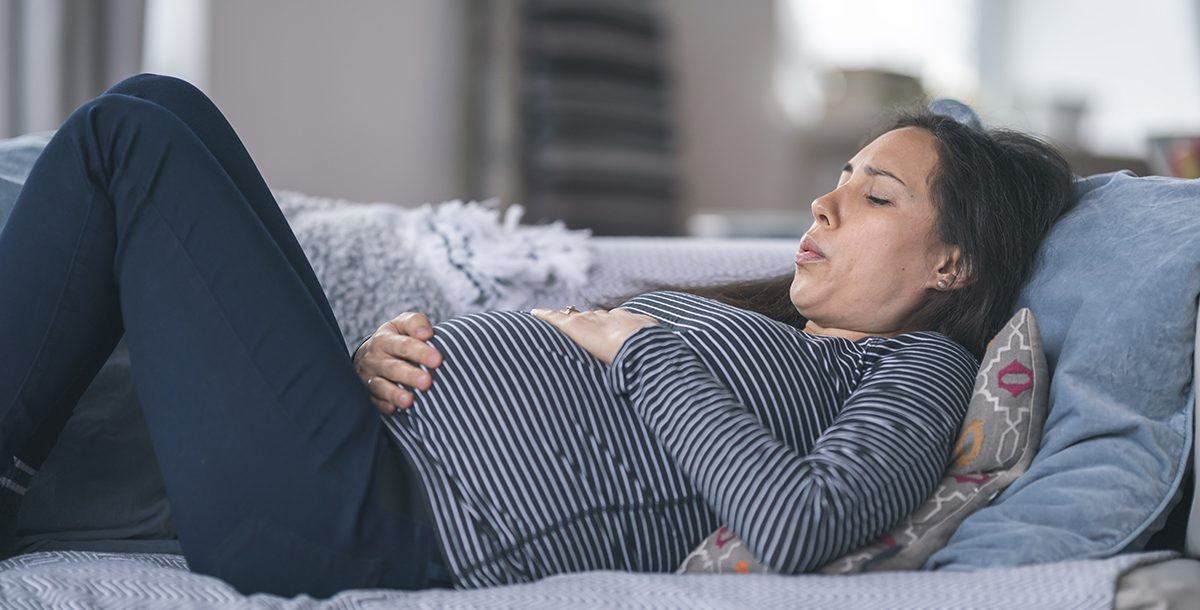 A woman in labor