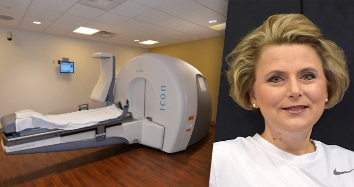 Gamma Knife machine and Stacey Bailey