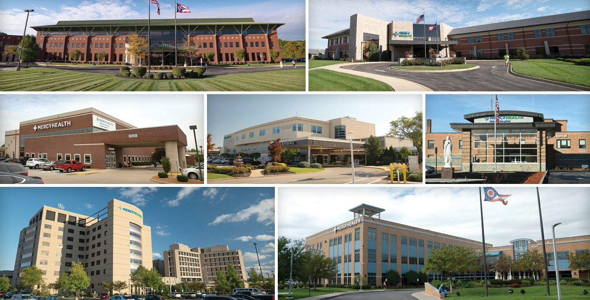 The seven hospitals that won the awards.