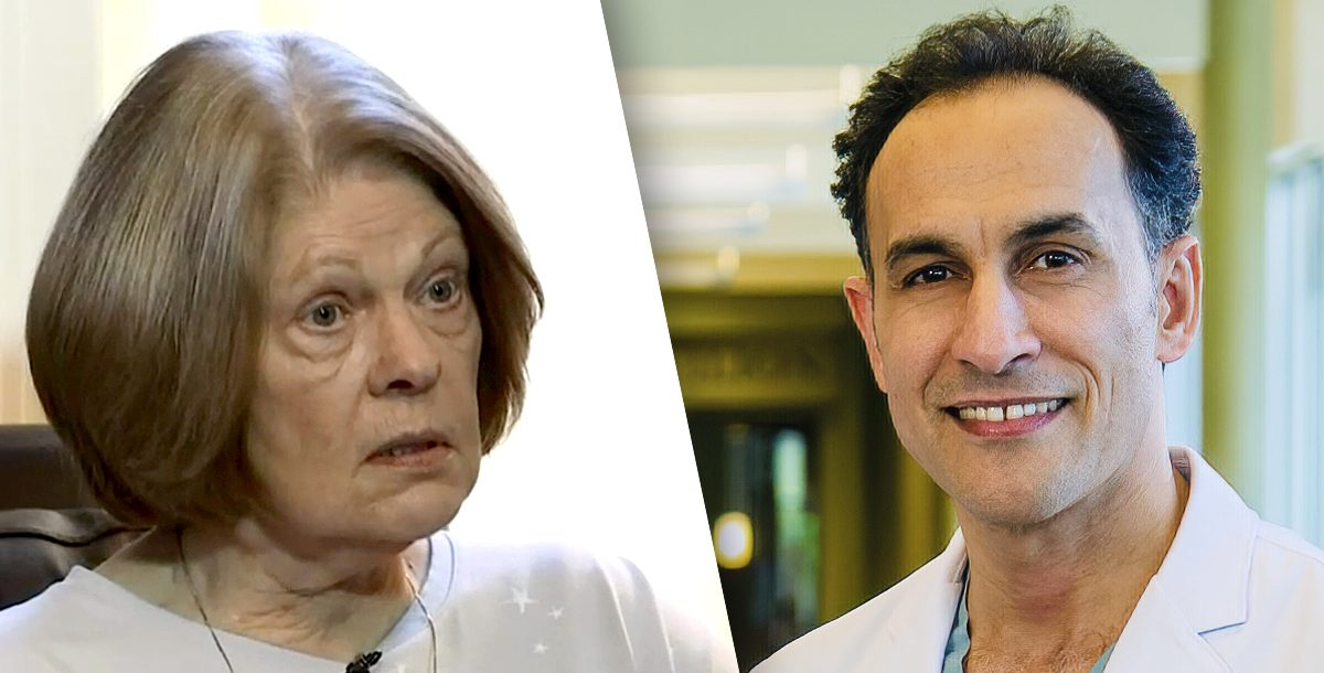 Linda Stetson and Dr. Almanfi