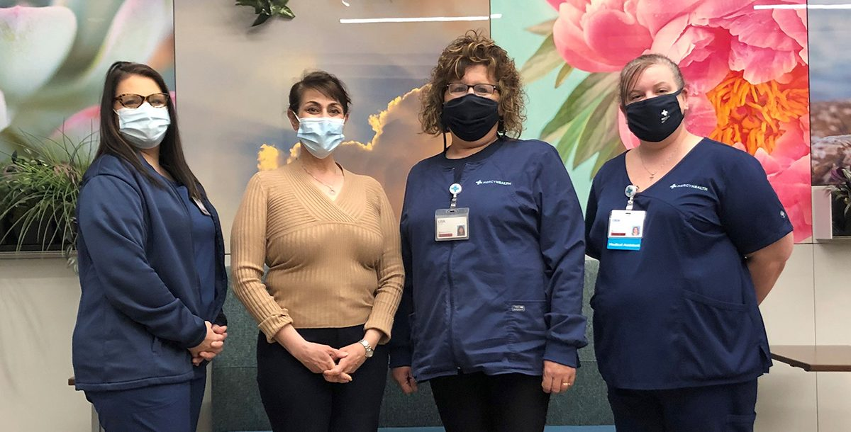 Annette Ducharme with our Toledo wound care team.