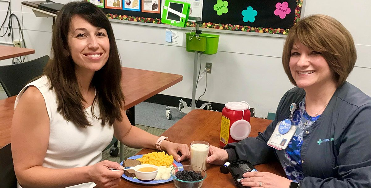 Kristina Sinegal, diabetes educator, and Debbie Hlad, diabetes education manager