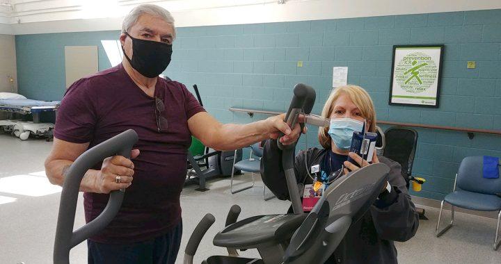 Tony Rangel in pulmonary rehab.