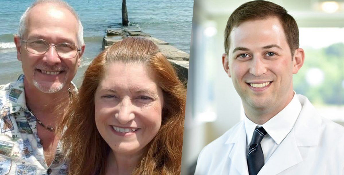 Michael Clark with his wife, Cory Barrat, MD