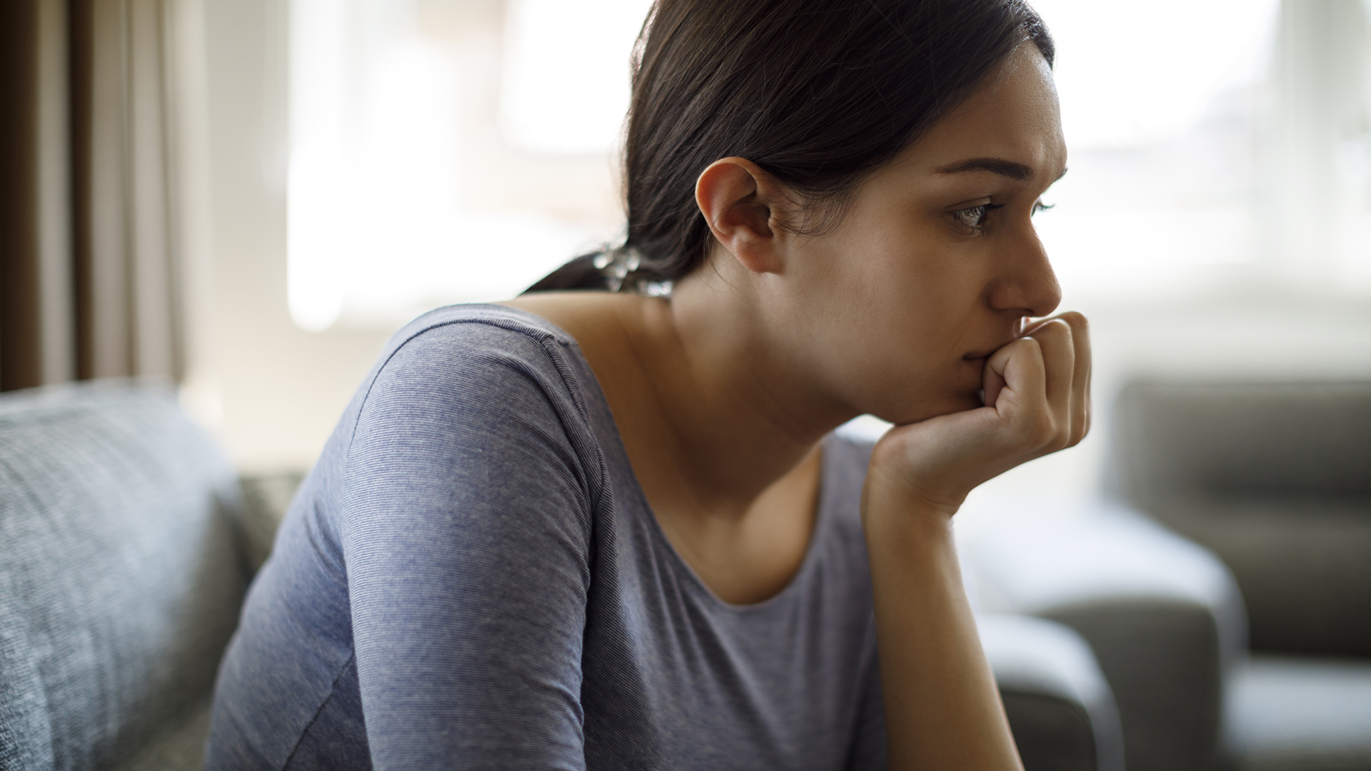A woman experiencing anxiety.