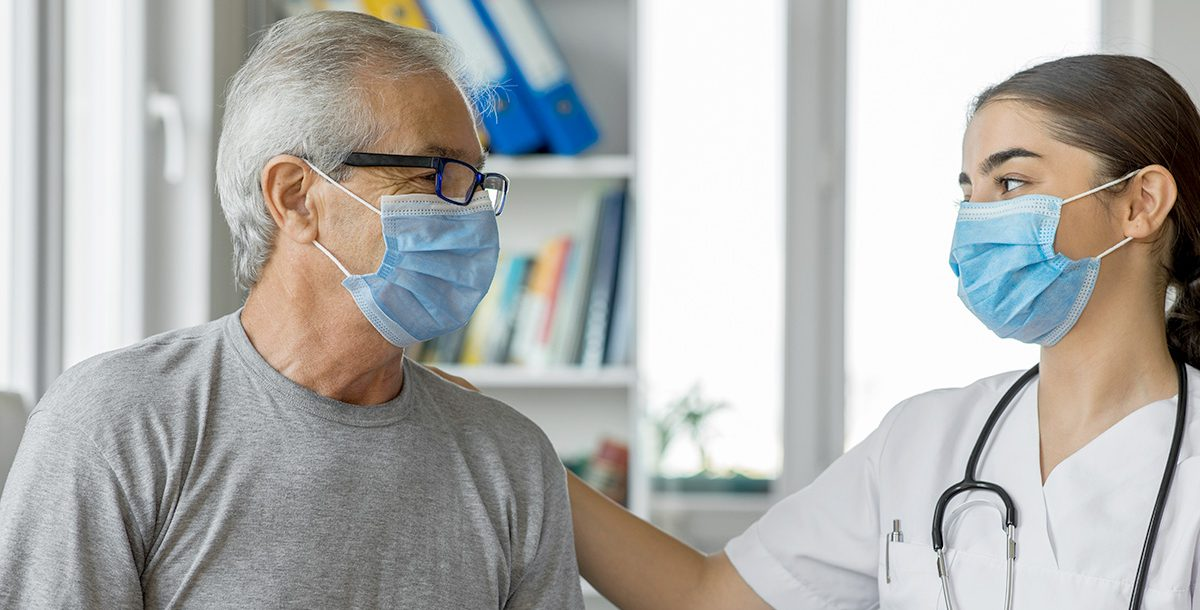 A man visiting his doctor