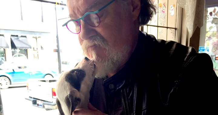 Mike McVey and his puppy, Mabel