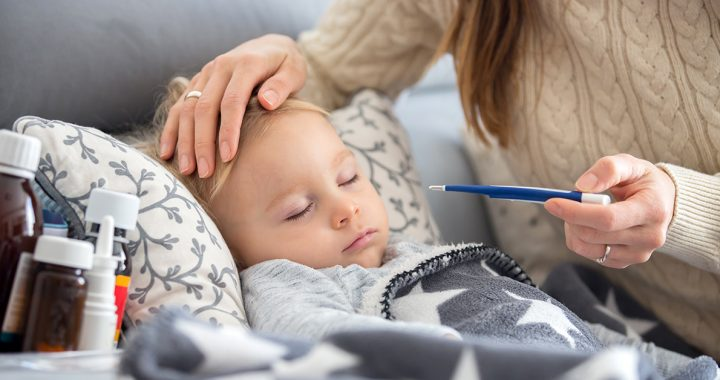 A mom monitoring her child for RSV.